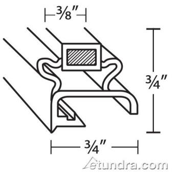 25244 - Delfield - 1702056 - 23 1/8 in x 28 1/2 in 4-Sided Magnetic Door Gasket Product Image