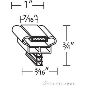 26288 - Delfield - 1702524 - 13 in x 25 in 4-Sided Magnetic Door Gasket Product Image