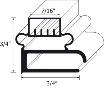 25191 - FMP - 127-1033 - 8 ft Screw-In Magnetic Gasket Product Image