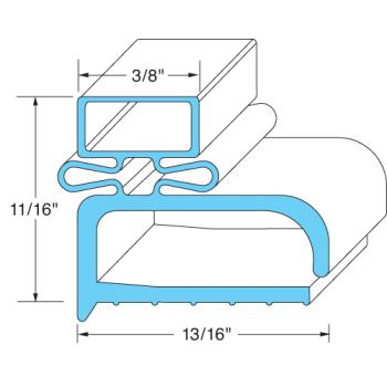 25213 - FMP - 145-1005 - 21 in x 24 in 4-Sided Magnetic Door Gasket Product Image