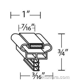 25374 - FMP - 235-1082 - 16 7/8 in x 23 7/8 in 4-Sided Magnetic Door Gasket Product Image