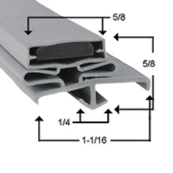 25231 - FMP - 237-1024 - 23 1/8 in x 25 1/8 in 4-Sided Magnetic Door Gasket Product Image