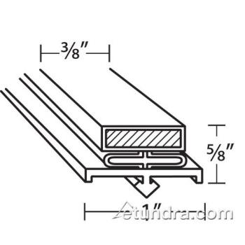 25289 - Glenco - SP-691-21 - 25 in x 25 9/16 in 4-Sided Magnetic Door Gasket Product Image