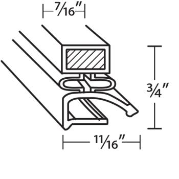 25270 - Hobart/Koch - 280984-5 - 24 3/8 in x 25 3/8 in 4-Sided Magnetic Door Gasket Product Image