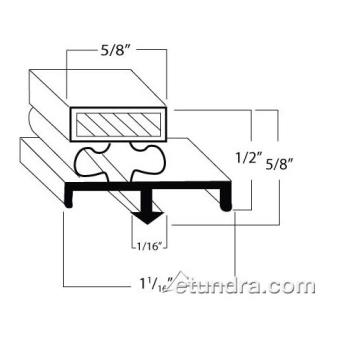 741163 - Nor-Lake - 28339 - 28 3/4 in x 67 in Door Gasket Product Image