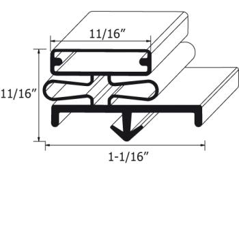 741167 - Nor-Lake - 37454 - 28 1/2 in x 78 3/4 in Door Gasket Product Image