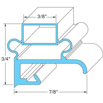 25263 - Original Parts - 741017 - 24 1/2 in x 25 1/2 in 4-Sided Magnetic Door Gasket Product Image