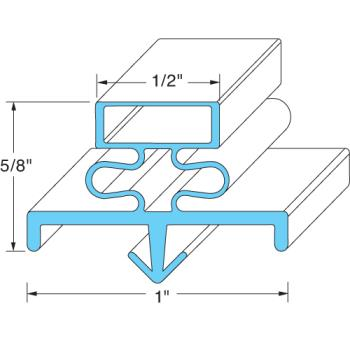 25288 - Original Parts - 741021 - 24 1/2 in x 62 3/8 in 4-Sided Magnetic Door Gasket Product Image