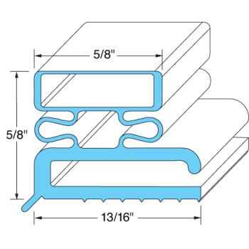 25260 - Original Parts - 741054 - 29 3/8 in x 23 3/8 in 4-Sided Magnetic Door Gasket Product Image