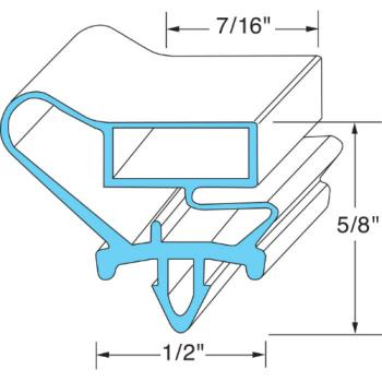741118 - Original Parts - 741118 - 23 9/16 in x 53 5/32 in Door Gasket Product Image