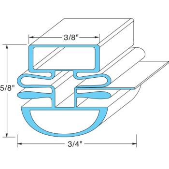 25368 - Original Parts - 741238 - 22 1/2 in x 26 3/4 in 4-Sided Mangetic Door Gasket Product Image