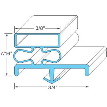 25401 - Original Parts - 741291 - 21 in x 24 5/8 in Door Gasket Product Image