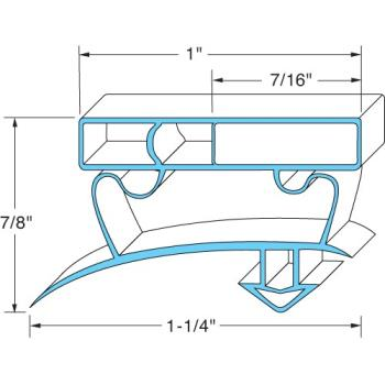 TRU932587 - Original Parts - 741355 - 26 1/2 in x 26 1/2 in 4-Sided Magnetic  Door Gasket Product Image