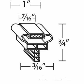 25404 - Randell - INGSK0113 - 25 15/16 in x 57 1/2 in 4-Sided Magnetic Door Gasket Product Image
