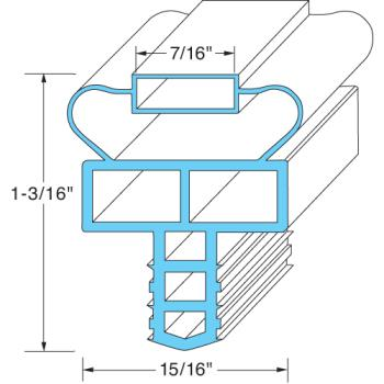 25354 - Randell - INGSK1015 - 22 3/4 in x 24 3/4 in 4-Sided Magnetic Door Gasket Product Image