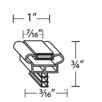 25353 - Randell - INGSK1025 - 21 5/8 in x 24 1/2 in Door Gasket Product Image