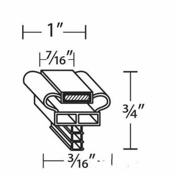 25384 - Randell - INGSK1045 - 10 3/8 in x 24 5/8 in 4-Sided Magnetic Drawer Gasket Product Image