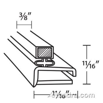 25245 - Randell - INGSK225 - 9 7/8 in x 21 1/8 in 4-Sided Magnetic Drawer Gasket Product Image