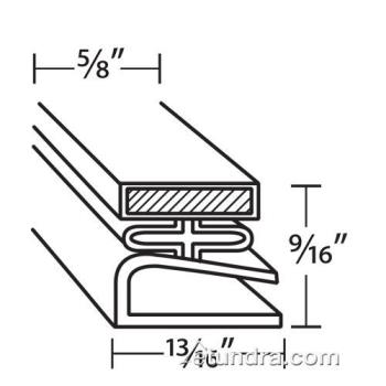 25329 - Traulsen - 341-0453-03 - 21 1/2 in x 23 1/2 in 4-Sided Magnetic Door Gasket Product Image