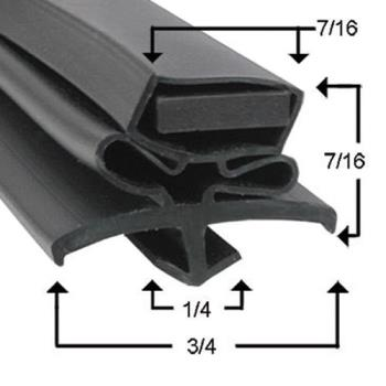 25497 - True - 810720 - 42 1/2 in x 8 in 4-Sided Magnetic Drawer Gasket Product Image