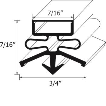 26542 - True - 810780 - 26 1/4 in x 17 3/4 in 4-Sided Magnetic Door Gasket Product Image