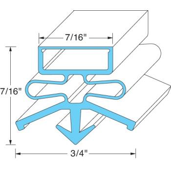 "25429 - True - 810844 - 12 5/8"" x 24 1/2"" Drawer Gasket Product Image"
