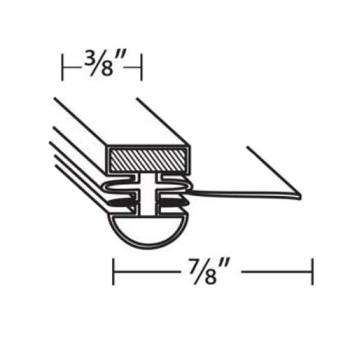 TUR30223F0200 - Turbo Air - 30223F0204 - 22 1/2 in x 52 1/2 in Door Gasket Product Image