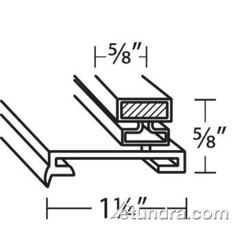25310 - Victory - 50245501 - 62 1/2 in x 26 3/16 in 4-Sided Magnetic Door Gasket Product Image