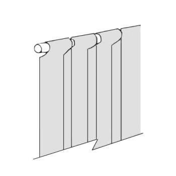 "23317 - Commercial - 8"" x 84"" Replacement Loop End Strip Curtain Product Image"