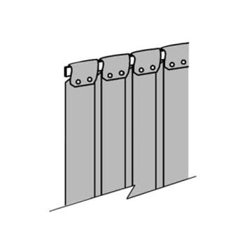 "23315 - Commercial - 8"" x 84"" Replacement Strip Curtain w/ Wrap/Screw Mount Product Image"
