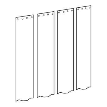 "CURCZN6PR804PK - Curtron - CZN-6-PR-80-4PK - Curtronizer™ Economy 4-Pk of 6"" x 80"" Replacement Strips Product Image"
