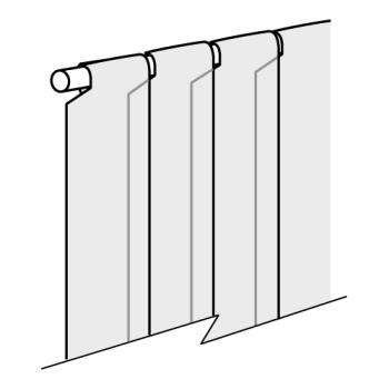 "CURM108PR803PK - Curtron - M108-PR-80-3PK - M-Series 3-Pak of 8"" x 80"" Replacement Strips Product Image"