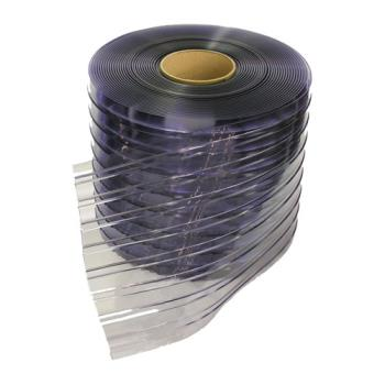 "CURRCS08072 - Curtron - RCS08072 - 8"" x 150' Ribbed Clear PVC Strip Roll Product Image"