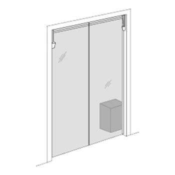 "23335 - Commercial - Clear Vu 35"" x 78"" Clear Swing Door Set Product Image"