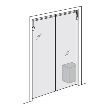 "CURPPC0804278 - Curtron - PP-C-080-4278 - Polar-Pro™ 42"" x 78"" PVC Swinging Door Product Image"