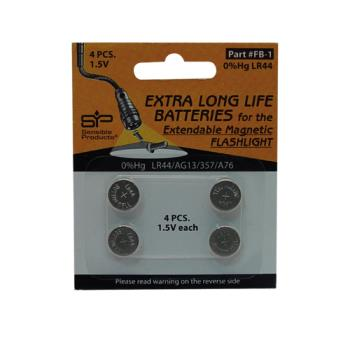 36578 - Commercial - LR44 Replacement Batteries - 4/Pk Product Image