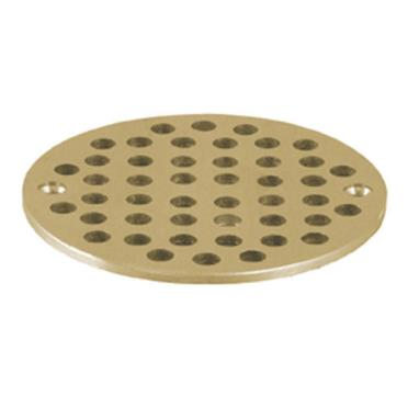 Fmp 102 1080 4 5 8 round brass floor drain strainer for 12 inch floor drain cover