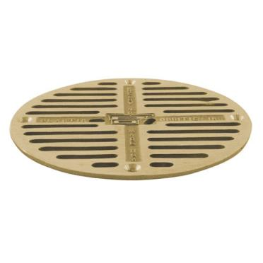Commercial 7 1 2 round brass floor drain strainer for 10 inch floor drain cover