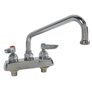t s brass commercial kitchen faucets t amp s brass b 1113 heavy duty 4 quot deck mount faucet w 12 27975