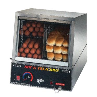 Steaming Hot Dog Buns On A Cart