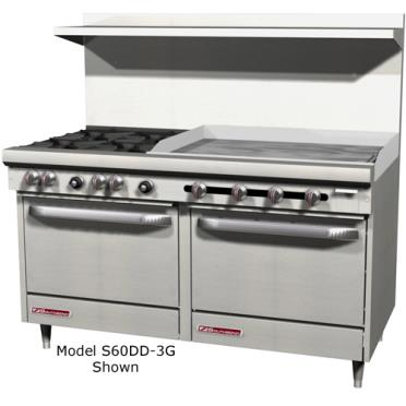 Southbend S60dd 2g S Series 60in Range6burners 24in