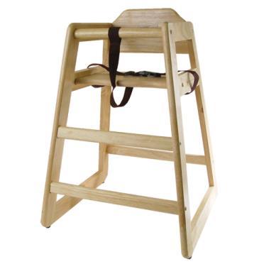 Winco CHH 101 Natural Finish Wood High Chair ETundra