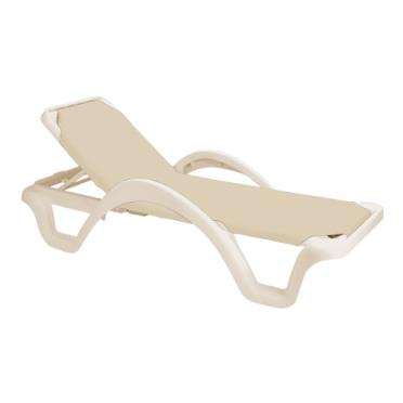 Grosfillex us255166 catalina natural sandstone chaise - Grosfillex chaise lounge chairs ...