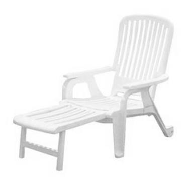 Grosfillex 47658004 White Bahia Deck Chair 10 Pack