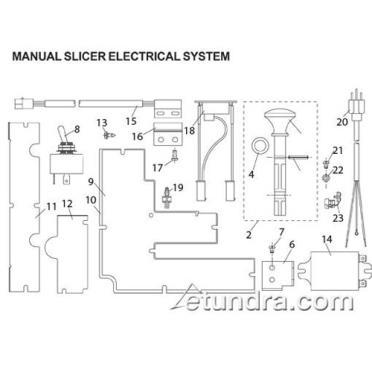 tundra restaurant supply globe 3600p slicer electrical parts