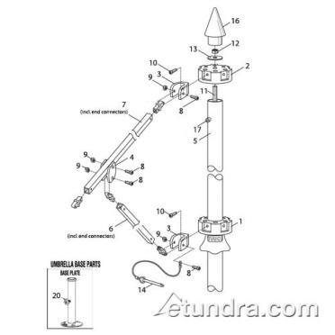 patio umbrella parts diagram tundra restaurant supply - panera bread tuuci umbrella parts ih 706 parts diagram