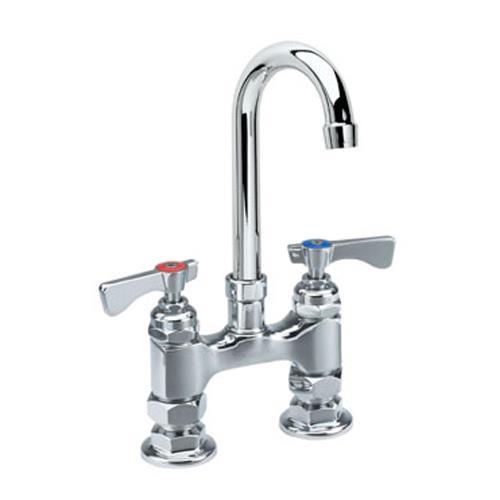 Commercial Gooseneck Faucet : ... 401L - Royal Series Deck Mount Faucet With 6 in Swivel Gooseneck Spout
