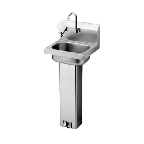 Hand Sink : ... - HS-14 - 17 in Pedestal Base Hand Sink With Faucet Product Image