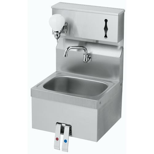 Towel Soap Dispenser ~ Krowne hs knee valve sink with soap towel