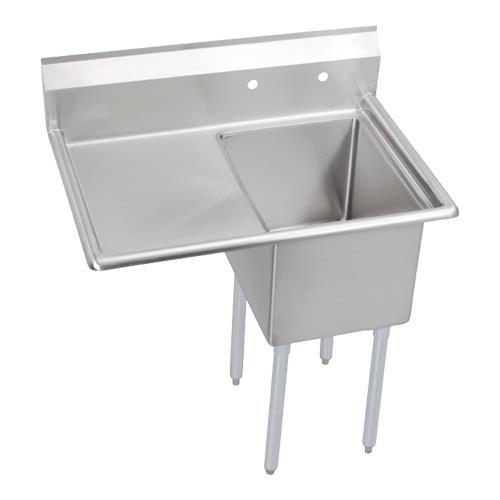 """12"""" Standard 38 1/2""""L (18"""" x 18"""")One Compartment Sink w/Left 18"""" Drainboard at Discount Sku 1C18X18-L-18X ELK1C18X18L18X"""